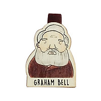 Bookmark gỗ nam châm Graham Bell