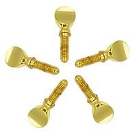 Golden Copper Saxophone Neck Tightening Screws Set of 5 Pieces, Sax Parts
