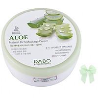 Kem massage mát xa dưỡng da chiết xuất lô hội  Dabo Hàn quốc ( 200ml) và nơ