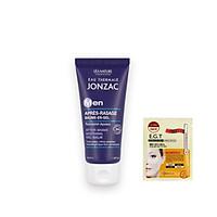 Gel dưỡng ẩm, làm dịu da sau cạo râu Eau Thermale Jonzac 50ml + Tặng kèm 1 mặt nạ mắt Mediheal