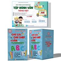Tập Đánh Vần Tiếng Việt + Flasdcard Chữ Cái Chữ ghép Và Vần - Combo