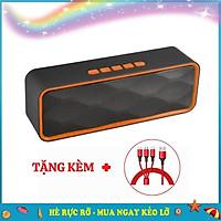 Loa Bluetooth SC211 LANITH - Loa Không Dây Nghe Nhạc Mini - Thiết Kế Nhỏ Gọn, Tiện Lợi - Kết Nối Đa Năng Cho Cả Thẻ Nhớ Và USB - Tặng Kèm Cap Sạc 3 Đầu - Hàng Nhập Khẩu - LSC00211-CAP00001