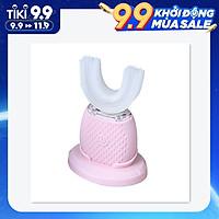 Bàn Chải Đánh Răng Điện Tự Động Kiểu Chữ U Xoay 360 Độ Với 3 Chế Độ Làm Sạch Sạc USB Automatic Intelligent Electronic Toothbrush