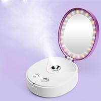 Gương trang điểm Beauty Mirror đa chức năng kết hợp phun sương nano + đèn LED + sạc dự phòng