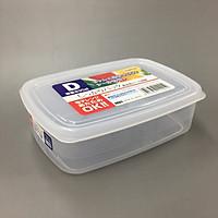 Bộ 3 hộp đựng thực phẩm nhựa PP cao cấp không chứa các hoạt chất gây hại 830mL - Hàng Nhật nội đia