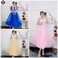 Đầm dự tiệc công chúa phối hoa nổi trắng TRIPBLE T DRESS - size M/L - MS143Y