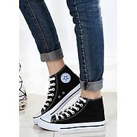 Giày Classic Nữ Cổ Cao Màu Đen Sp01 - Đen
