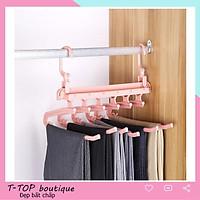Giá treo quần áo đa năng gấp gọn tiết kiệm không gian treo đồ, móc treo đồ đa năng LSJ80