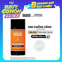 Kem chống nắng thỏi dạng Sáp tiện dụng cho Nam và Nữ Dashu Daily Vita-flex Sunstinck SPF50+/PA++++ 15g, chứa Vitamin và chất hữu cơ tự nhiên, không gây kích ứng da, phù hợp với mọi lứa tuổi, chống mồ hôi, bã nhờn, tốt cho da dầu và da mụn.