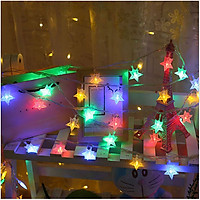 Dây Đèn Nháy Nhiều Màu Trang Trí Noel Lễ Tết Hình Ngôi Sao 3M 18 Bóng - Ngôi Sao