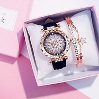 Đồng hồ thời trang nữ mặt hoa đính đá siêu đẹp ZO26