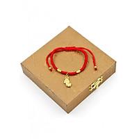 Vòng tay tết dây cẩn tỳ hưu TD5 kèm hộp gỗ - Vòng đeo tay chỉ đỏ may mắn