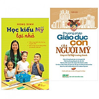 Combo 2 cuốn : Học kiểu Mỹ tại nhà + Phương pháp giáo dục con của người MỸ ( tặng kèm bookmark  AHA )