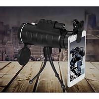 Ống nhòm kẹp điện thoại chụp ảnh một mắt 40X60 (Tặng kèm miếng thép đa năng 11in1)