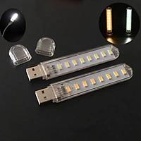 Thanh đèn LED mini gồm 3bóng/8bóng/5bóng cổng cắm USB thích hợp để bàn học