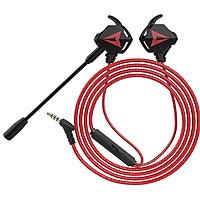 Tai nghe gaming có mic G901 dùng được cho điện thoại và máy tính - Đen Viền Đỏ