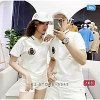 Áo thun nam có cổ murad_fashion, áo phông màu trắng thêu logo cao cấp 2021 atn108