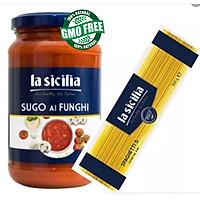 Combo Mỳ Ý Spaghetti + Sốt cà chua nấm La Sicilia