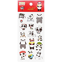 Bộ 3 Sticker Panda GUBHZMT03815 - Mẫu 4