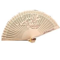 Quạt trúc cầm tay quạt phong cách cổ trang Trung Quốc in hoa trang trí quạt cổ trang mẫu cây đào tặng ảnh thiết kế Vcone