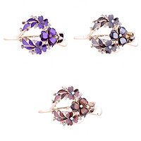 3pcs Strong Flower Hair Clip Clasp Formal Fine Hair Pin Crab Hair Jewelry
