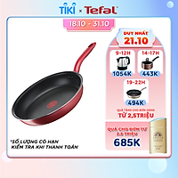 Chảo chiên chống dính đáy từ Tefal So Chef G1350296 21cm (Đỏ) - Công nghệ Thermor-spot cảnh báo nhiệt - Hàng chính hãng