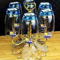 Giá úp cốc Inox mạ vàng