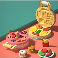 Bộ đồ chơi máy làm kem Mitolo máy lam mỳ máy làm bánh đất nặn sinh học thông minh mini PT5211