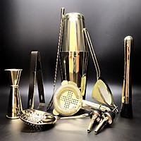 Sét 11Dụng Cụ Pha Chế Cao Cấp Inox #304 - Màu Gold  - Thép Không Gỉ [ HÀNG LOẠI 1 ]