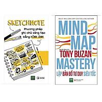 Combo 2 cuốn kỹ năng làm việc cực hay: Sketchnote - Phương Pháp Ghi Chú Sáng Tạo Bằng Hình Ảnh + Lập Bản Đồ Tư Duy Siêu Tốc ( Sách tin học văn phòng bán chạy)