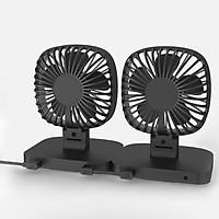 Quạt mini S-Fan siêu mát xoay 360 độ cổng USB (Black)