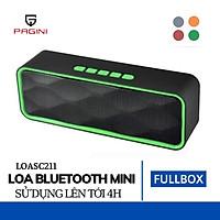 Loa Bluetooth SC211 PAGINI - Loa Không Dây Nghe Nhạc Mini - Thiết Kế Nhỏ Gọn, Tiện Lợi - Kết Nối Đa Năng Cho Cả Thẻ Nhớ Và USB – Hàng nhập khẩu