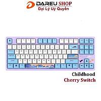 Bàn phím cơ DAREU A87 CHILDHOOD CHERRY switch - Hàng Chính Hãng