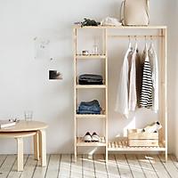 Giá Tủ Treo Quần Áo Gỗ Double Hanger Size M Nội Thất Kiểu Hàn BEYOURs - Gỗ Tự Nhiên