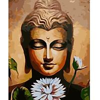 Tranh sơn dầu số hoá tự tô đức phật và hoa