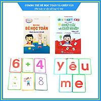 Combo Thẻ Bé học Toán và Thẻ chữ cái, chữ ghép - Size lớn