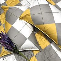 Drap Giường Ga Giường May Từ Vải Cotton Thắng Lợi Mẫu Mới Mát Mềm Mịn Đẹp Vượt Thời Gian - Mẫu Caro Vàng