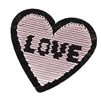 6pcs Heart Applique Sequin Sew on Clothes Bag DIY Embroidery Paillette Patch