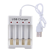 High Quality Protable 4 Slots AA AAA Rechargeable Battery Charger USB Power
