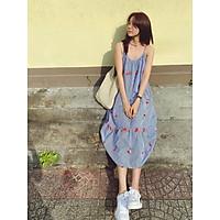 Đầm hai dây hoa thêu form suông Veron Dress Gem Clothing SP060471