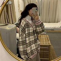 (Có sẵn) Áo len mùa thu Hàn Quốc áo kẻ sọc dài tay dáng rộng ulzzang