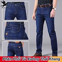 Quần jean nam ống suông vải co giãn may kỹ đẹp hàng công ty đưa ra loại quần jean công sở