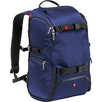 Ba Lô Máy Ảnh Manfrotto Backpack Travel Màu Xanh Lam - Hàng Chính Hãng