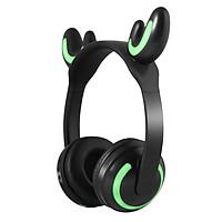 Tai Nghe Bluetooth Gaming Dễ Thương , Tai Nghe Mèo Không Dây Chụp Tai Có Đèn Led 7 Màu - Hàng Nhập Khẩu
