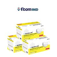 Combo 3 hộp Khẩu Trang y tế Alleluia 4 Lớp Kháng Khuẩn 99% (hộp 50 cái)