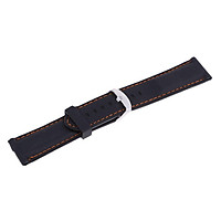 Men's Soft Silicone Rubber Watch Band Repalcement with Stitching Line - Quick Release Strap - 22mm 24mm or 26mm Width
