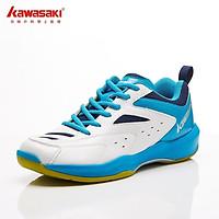 Giày Bóng chuyền Kawasaki K085 Chính hãng, mãu trắng xanh, đế Kếp cao su non bám sàn cực tốt, đủ size từ 37-44