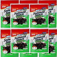 Combo 10 Gói - Rong Biển Hàn Quốc Sấy Khô Tẩm Gia Vị Trộn Cơm Ăn Liền Seaweed Snack 30gr & Vị Tép Thơm Ngon Giòn Bùi - Rong Biển Hổ Trợ Bổ Sung Chất Dinh Dưỡng và Tăng Sức Đề Kháng Cơ Thể
