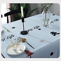 Khăn trải bàn không thấm nước Happy life KB35