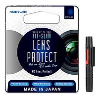 Combo Kính Lọc Filter Marumi Fit & Slim Lens Protect 58mm + Bút Lau Lens - Hàng Nhập Khẩu